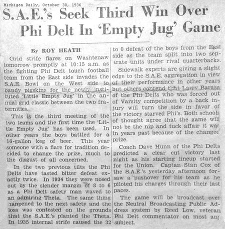 PDT MA Michigan Daily 1936 Oct 30 Mud Bowl