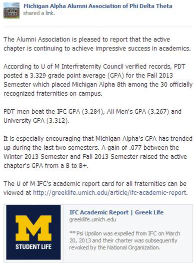 PDT MA scores high GPA 2013 Fall