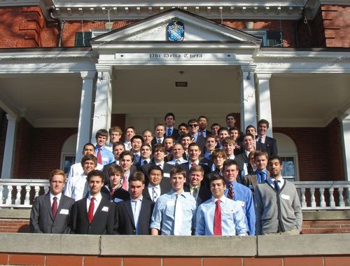 93 actives Founders Day chapter house